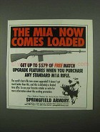 1997 Springfield Armory M1A Rifle Ad - Comes Loaded