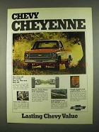 1974 Chevrolet Cheyenne Pickup Truck Ad - Use It