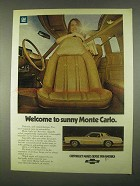 1974 Chevrolet Monte Carlo Ad - Welcome to Sunny