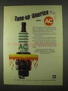 1974 AC Fire-Ring Spark Plugs Ad - Tune-up America