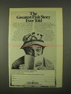 1974 Georgia Tourism Ad - Greatest Fish Story
