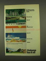1974 Alabama Tourism Ad - Brings Family Together