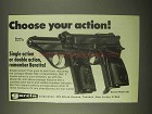 1974 Garcia Beretta Model 90 and Model 70S Pistols Ad