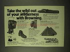 1974 Browning Ad - MacKenzie Pack; Pocket Stove