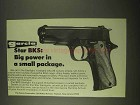 1974 Garcia Star BKS Pistol Ad - Big Power