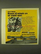 1974 Weaver Scopes Ad - Animals Not Created Equal