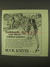 1974 Buck Knives Ad - Your Finest Outdoor Partner