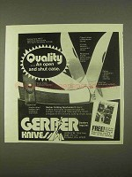 1974 Gerber 440-C Knife Ad - Quality