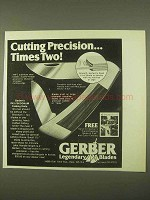 1974 Gerber 440-C Knife Ad - Cutting Precision