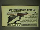1974 PIC El Gamo Model 68 Air Rifle Ad - Championship