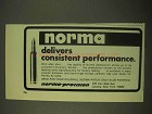 1974 Norma Bullets Ad - Delivers Consistent Performance