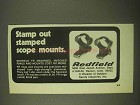 1974 Redfield Scope Mounts Ad - Stamp Out Stamped