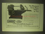 1922 Landis No. 5 Cylinder Grinder Ad - It Saves