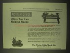 1922 Porter-Cable Toolroom Lathe, Production Lathe Ad