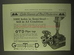 1922 Greenfield Tap and Die GTD Pipe Tap Ad