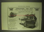 1922 Oliver No. 125 Single End Tenoner Ad
