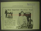 1922 Oliver Engine Lathes Ad - Most Important Tool