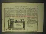 1922 Greenfield No. 218 Wells Manual Training Lathe Ad