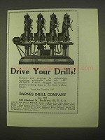 1922 Barnes All-Geared Gang Drills Ad