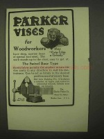 1922 Parker Vises Ad - For Woodworkers