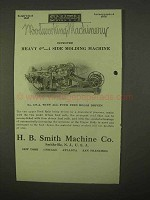 1922 H.B. Smith No. 129-A 4 Side Molding Machine Ad