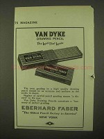 1922 Eberhard Faber Van Dyke Drawing Pencil Ad