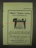 1922 Oliver Machinery Engine Lathes Ad