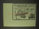 1922 Parker Vises Ad - Have Handles That Stay Put
