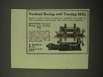 1922 H. Bickford Vertical Boring and Turning Mill Ad