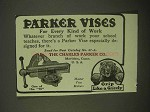 1922 Parker Vises Ad - For Every Kind of Work