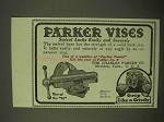1922 Parker Vises Ad - Swivel Locks Easily and Securely