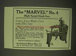 1922 Armstrong-Blum Marvel No. 4 High Speed Hack Saw Ad