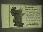 1922 Standard Milling Machine Ad - Economical Output