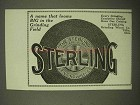 1922 Sterling Grinding Wheel Ad - A Name That Looms Big