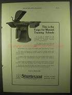 1922 Sturtevant Type H Forge Ad - This is The Forge