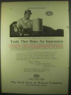 1922 Pexto Setting Down Machine Ad - Make an Impression