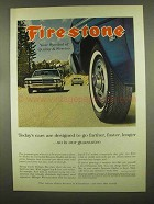 1965 Firestone Tires Ad - Farther, Faster, Longer