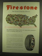 1965 Firestone Tires Ad - Nationwide Guarantee