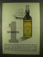 1965 Cutty Sark Scotch Ad - Number 1