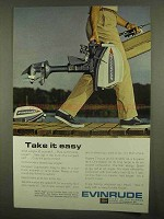 1965 Evinrude Angler Outboard Motor Ad - Take it Easy