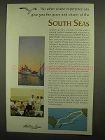 1965 Matson Lines Ad - Grace And Charm of South Seas