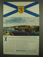1965 Nova Scotia Canada Travel Ad - Little Harbour