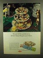 1965 Saran Wrap Ad - You Put All The Goodness In