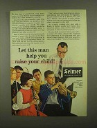 1965 Selmer Band Instruments Ad - Help Raise Child