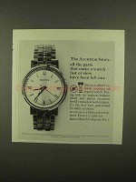 1965 Bulova Accutron Watch Ad - The Story