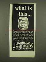 1965 Howard Johnson's Motor Lodges Ad - What Is This