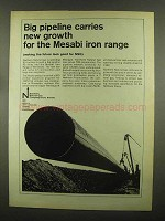 1965 Northern Natural Gas Company Ad - Mesabi Iron