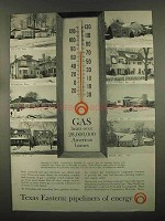 1965 Texas Eastern Ad - Gas Heats 28,000,000 Homes