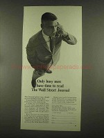 1965 Wall Street Journal  Ad - Only Busy Men