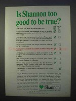 1966 Shannon Free Airport Development Ad - Too Good